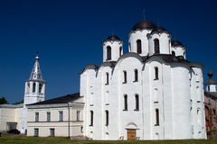 St. Nicholas Cathedral, Great Novgorod, Russia. St. Nicholas Cathedral, Yaroslav's Courtyard. Former Marketplace, Great Novgorod, Russia Stock Photos