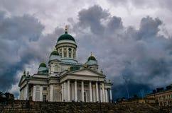 St Nicholas Cathedral in Helsinki Royalty-vrije Stock Afbeeldingen