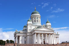 St Nicholas Cathedral in Helsinki Royalty-vrije Stock Afbeelding