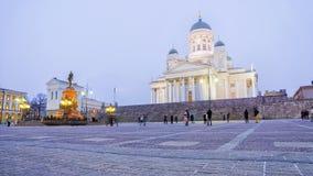 St Nicholas Cathedral i Helsingfors Royaltyfria Foton