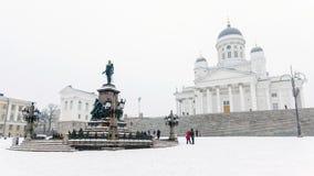 St Nicholas Cathedral i Helsingfors Royaltyfria Bilder