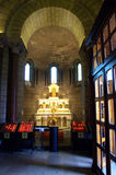 St. Nicholas Cathedral interior, Monaco. Altar in Cathedral of St. Nicholas, Monaco Stock Photo