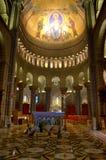 St. Nicholas Cathedral interior, Monaco. The nave of Cathedral of St. Nicholas in Monaco Stock Photos