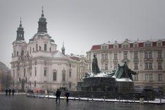 Prague, Czech Republic - Church St Nicholas stock photo
