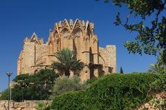 St Nicholas Cathedral (Lala Mustafa Mosque) Famagusta, Chipre fotos de stock royalty free