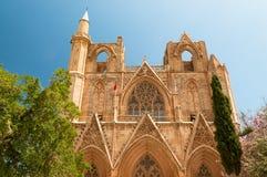 St. Nicholas' Cathedral (Lala Mustafa Mosque). Famagusta, Cyprus Stock Photos