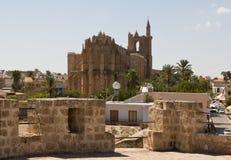 St. Nicholas Cathedral - Lala Mustafa Mosque Stock Photo
