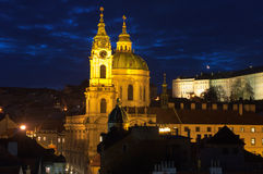 St.Nicholas cathedral in mala strana, Prague Royalty Free Stock Image
