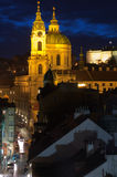 St.Nicholas cathedral in mala strana, Prague Royalty Free Stock Images