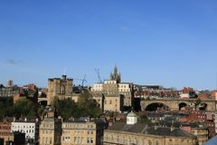 St Nicholas Cathedral on Newcastle Sky Line Stock Photography