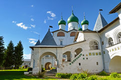 St Nicholas cathedral in Nicholas Vyazhischsky stauropegic monastery, Veliky Novgorod, Russia Stock Image