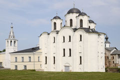 St. Nicholas Cathedral in Novgorod royalty-vrije stock afbeelding