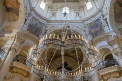 St Nicholas Cathedral Old Town Prague Stock Foto's
