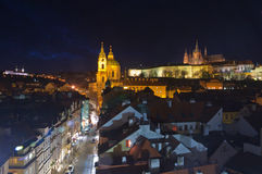 St.Nicholas cathedral and prague hradcany Royalty Free Stock Photo