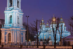 St. Nicholas cathedral in Saint-Petersburg Royalty Free Stock Photography