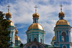 St. Nicholas cathedral in Saint-Petersburg, Russia Royalty Free Stock Images