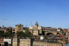 St Nicholas Cathedral sur la ligne de ciel de Newcastle Photographie stock