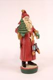 St. Nicholas Christmas Statue. Isolated St. Nicholas Christmas Statue Stock Images