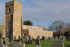 St Nicholas church Abbotsbury. Very old stone built church at Abbotsbury Dorset Stock Photography