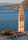 St. Nicholas Church above Kotor Bay, Perast Royalty Free Stock Photo