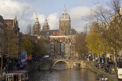 St Nicholas Church in Amsterdam Stock Afbeeldingen