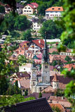 St. Nicholas Church bell tower in Brasov Stock Images
