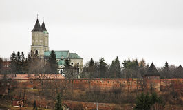 St. Nicholas church and Benedictine abbey in Jaroslaw. Poland Royalty Free Stock Photo