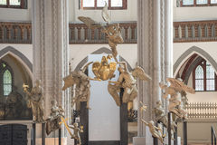 Angels in St. Nicholas Church Berlin. St. Nicholas Church - Nikolai Church Berlin - Angels Holding heart with wings Royalty Free Stock Image