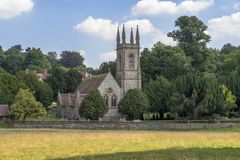 St Nicholas Church ,Chawton. Near Alton Hampshire. A church has stood on the site in Chawton since at least 1270 The church suffered a disastrous fire in 1871 stock photo