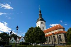 St Nicholas Church en Museum in Oude Stad van Tallinn, Estland royalty-vrije stock afbeelding