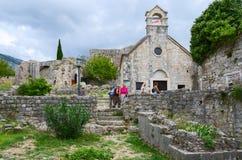St Nicholas Church, gammal stång, Montenegro Royaltyfri Bild