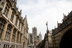 St Nicholas Church - Ghent - Belgium. St Nicholas Church in Ghent - Belgium Stock Image
