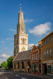 St Nicholas` Church in Gloucester, England. Gloucester, United Kingdom - June 8, 2013: View of St Nicholas` Church from the southeast on a sunny day. Copy space stock photography