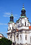 St. Nicholas Church - Historical Prague. Historical Baroque church - St. Nicholas Church is one famous old Prague sights. Completed in 1735 and is located at the stock images
