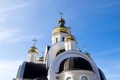 St Nicholas Church i Chernigov, Ukraina Arkivfoto