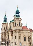 St. Nicholas Church located on the old town square stock photography