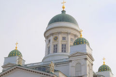 St. Nicholas Church and a monument of Alexander II Royalty Free Stock Image