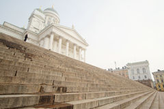 St. Nicholas Church and a monument of Alexander II Royalty Free Stock Images