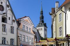 City of Tallinn in Estonia Stock Photos