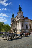 St. Nicholas Church, Old Buildings, Old Town Square, Prague, Czech Republic Stock Photos