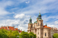 St. Nicholas Church in the Old Town of Prague, Czech Republic Stock Photography
