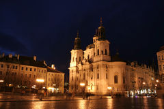 St. Nicholas Church at the Old Town Square Stock Photos