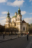 St. Nicholas Church at the Old Town Square in the heart of Old Town of the Prague. Royalty Free Stock Photos