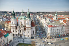 St. Nicholas Church,Old Town Square,Prague Stock Images
