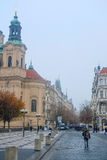 St. Nicholas Church on Old Town Square in Prague Stock Photos