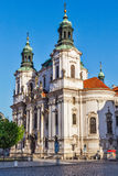 St. Nicholas church at Old Town Square, Prague Stock Images