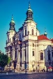 St. Nicholas church at Old Town Square, Prague Royalty Free Stock Images