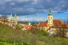 St. Nicholas Church, Panorama of the Prague, Lesser Town, Prague, Czech republic Royalty Free Stock Image