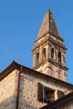 St. Nicholas Church in Perast. Kotor-Bucht Lizenzfreies Stockfoto