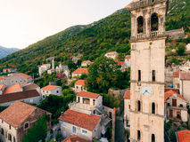 St. Nicholas Church, Perast, Montenegro Lizenzfreies Stockbild